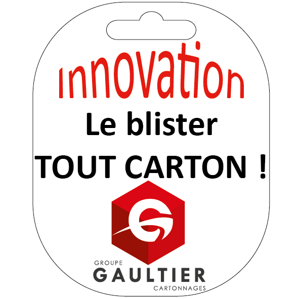 """innovation blister tout carton Groupe Gaultier Cartonnages"""