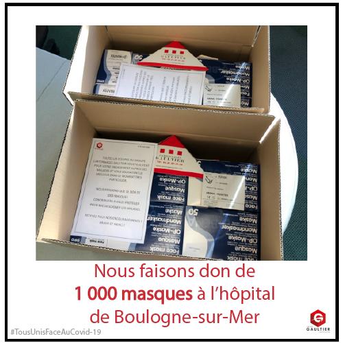 Don de masques pour l'hôpital de Boulogne-sur-Mer