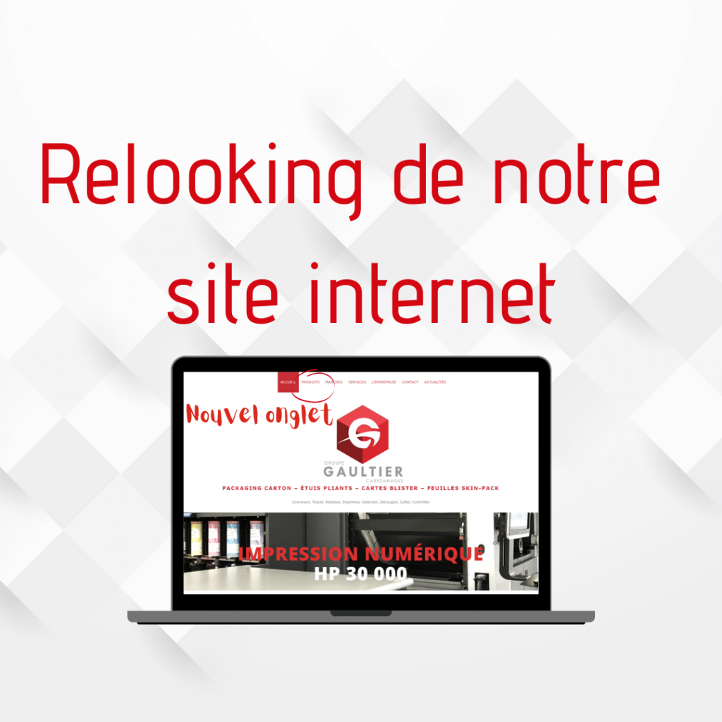 Groupe Gaultier Cartonnages - Nouvelle apparence site internet