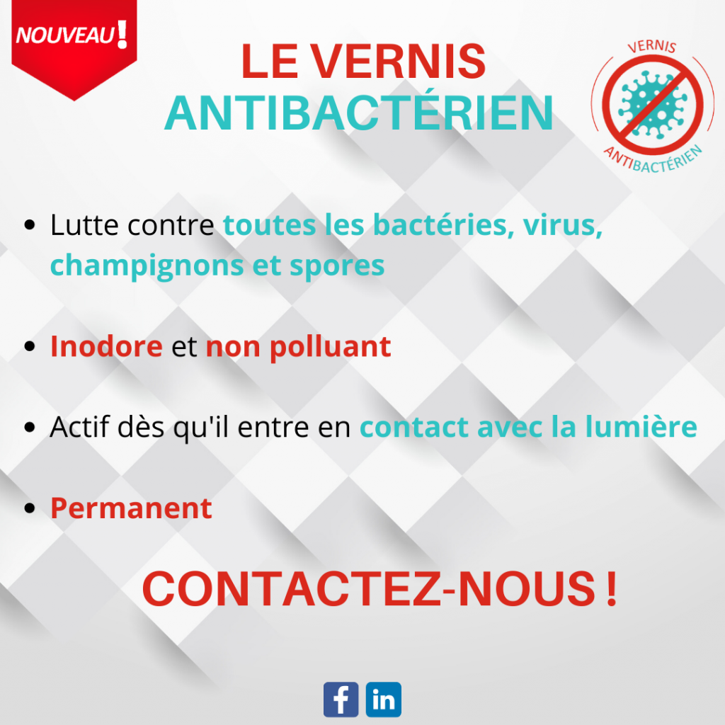 Vernis antibactérien