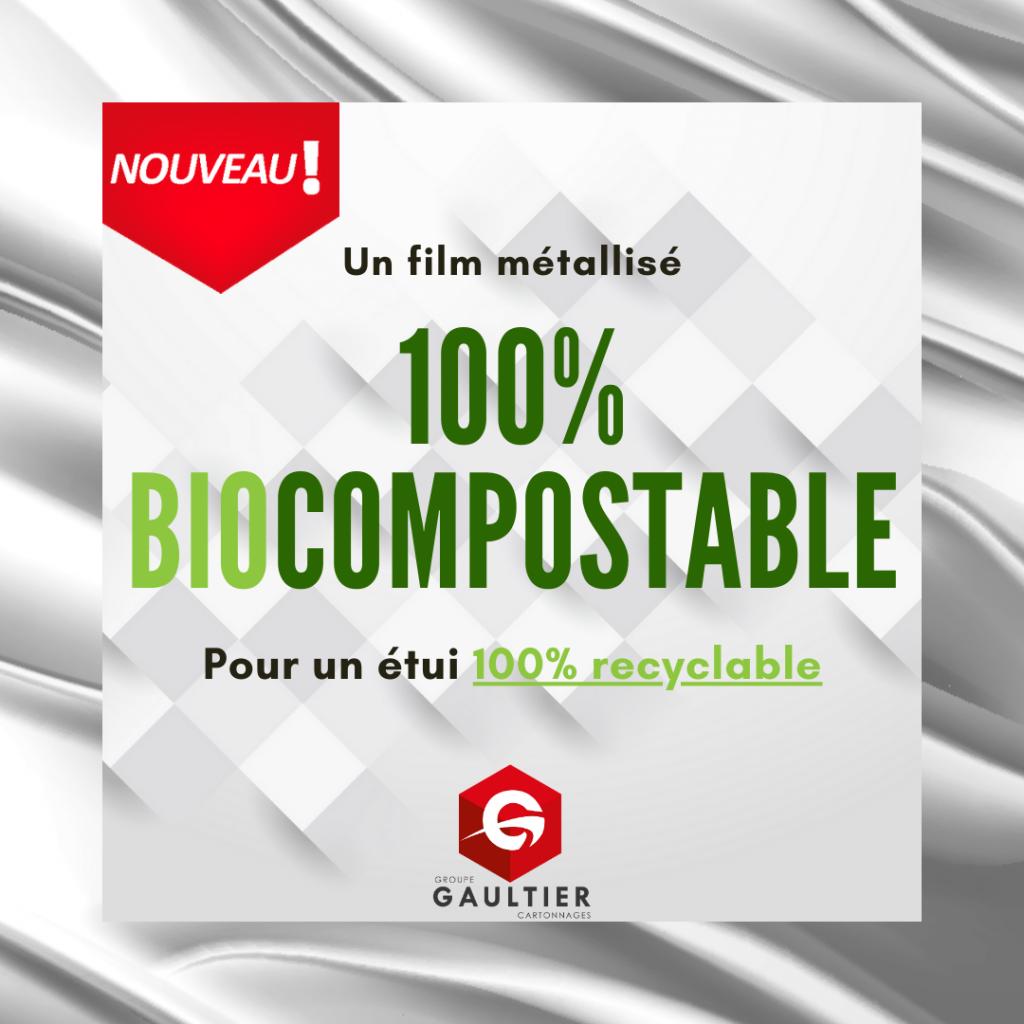 Film métallisé biocompostable - Groupe Gaultier Cartonnages