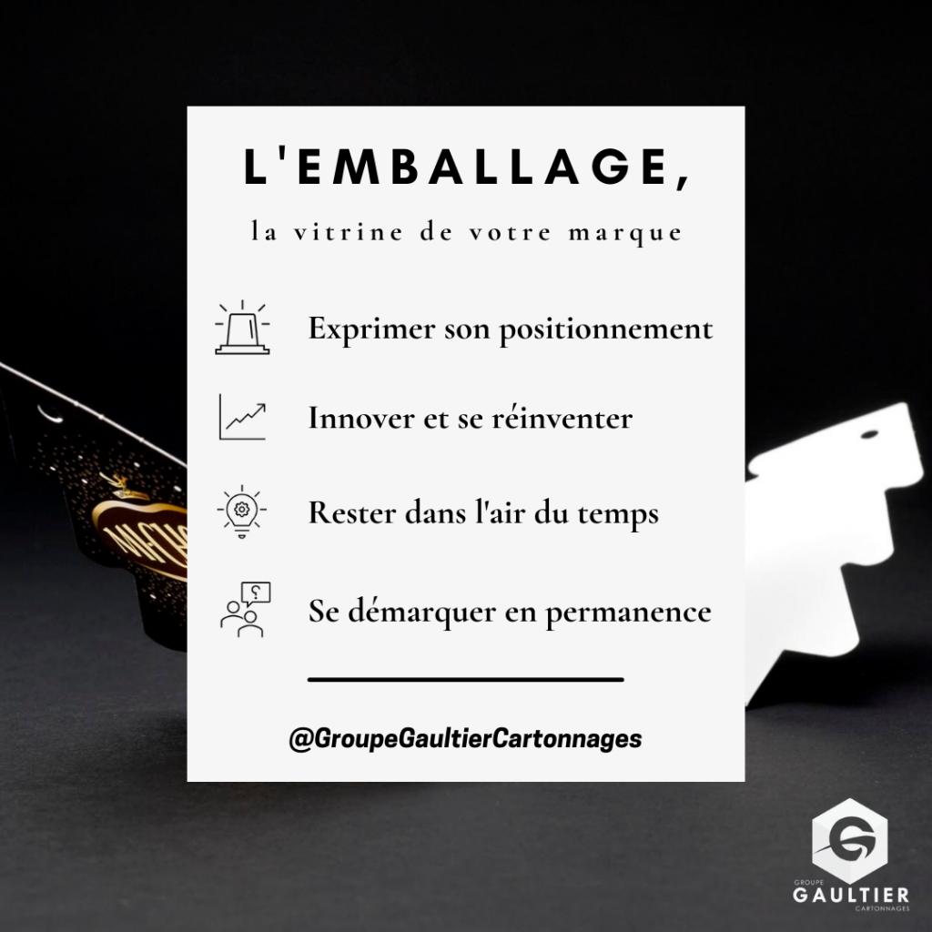 L'EMBALLAGE, LA VITRINE DE VOTRE MARQUE !