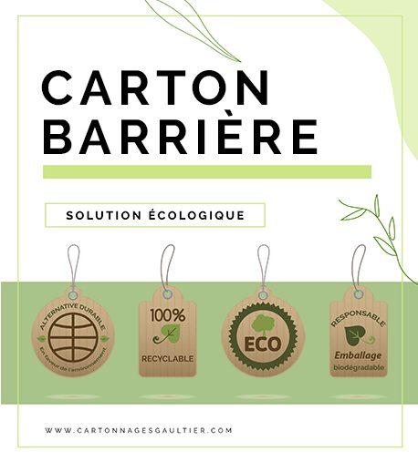 CARTON BARRIÈRE